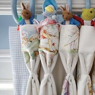 rideaux avec tête à plis flamands bebe