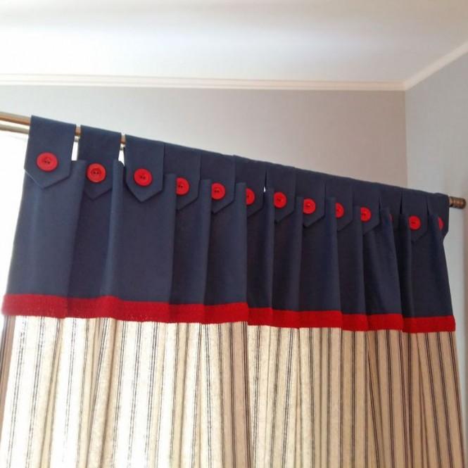 rideaux avec tête à plis sur pattes élaboré